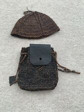 Vivienne Westood Leather Woven Cap And Belt Pouch