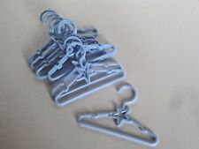 """Blue Star Hangers 10 pack Fits 14.5"""" American Girl Wellie Wishers Doll Clothes"""