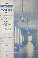 ARCHITECTURE REVUE LA CONSTRUCTION MODERNE N° 27 de 1931 BUILDING AMERICAIN