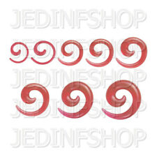 Ear Taper Stretcher - Spiral Snail | 1.6mm-10mm | Red Transparent Acrylic