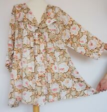 THE MASAI CLOTHING COMPANY Beige Viscose Floral Tunic , Size XL
