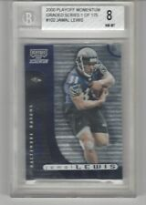 2000 PLAYOFF MOMENTUM JAMAL LEWIS #102 ROOKIE 604/750 GRADED SERIES BGS 8 NM-MT
