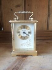 Vintage London Clock branded Quartz Carriage Clock with White Face