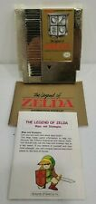 The Legend of Zelda NES 1985 Gold Cart + Manual and Map Very Clean Condition