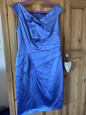 Coast Fitted Cold Shoulder  Midi Dress Size 16 Wedding Occasion Worn Once