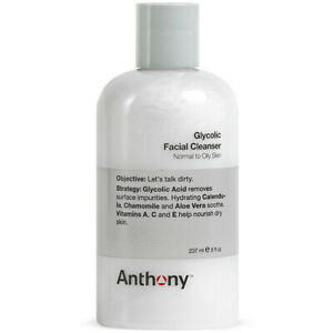 Anthony Glycolic Facial Cleanser, Normal to Oily Skin, Contains Glycolic Acid,