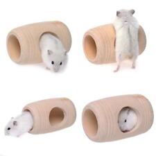 Wood Tunnels Tubes Hamster Rat Mice Toys Treats Chews Tube Tunnel Gnaw House CS