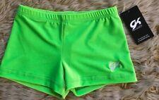 Gk Adult Velvet Micro Mini Workout Shorts Medium M Gymnastics Dance Green New