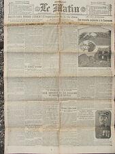 LE MATIN (18/7/1919) Explosion Couneuve - Organisation vie chère -Vins portugais