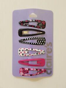 Nuovo Claire's Donna Bambine Ragazze 6 Confezione Capelli Accessori Clip Fiori A