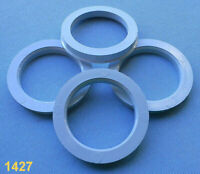 4 Stück Zentrierringe 75,0 / 57,1 mm schwarz für Alufelgen 1427