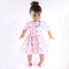 sweater Autumn clothes set for 18inch American girl doll party best gift b795