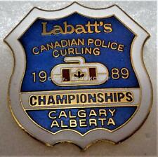 1999 CANADIAN POLICE CURLING CHAMPIONSHIPS CALGARY AB. Pin Mint