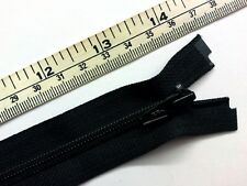 "Zip, Zipper 14""/ 35cm, Lightweight No.4,Open End /Separating, Nylon YKK,Black"