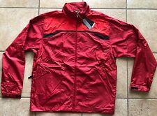 Nike Golf Clima-Fit Full-Zip Wind Jacket-Varsity Red/Black-Large-Nwt
