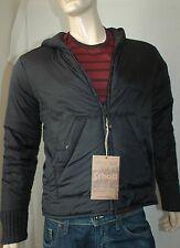 Schott NYC PL WILKS Reversible Sweater Hoodie Jacket Parka Black Gray Mens Sz L