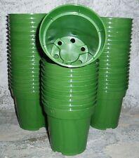"PK(50) 9CM - 3.1/2"" HEAVY DUTY GREEN  PLANT POTS"