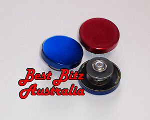 ANODISED BLUE OR RED RADIATOR RECOVERY CAP 15psi *NEW* LARGE HOLDEN FORD CHEV