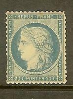 """FRANCE STAMP TIMBRE N° 37b """" CERES 20c BLEU SIEGE DE PARIS 1870 """" NEUF x A VOIR"""