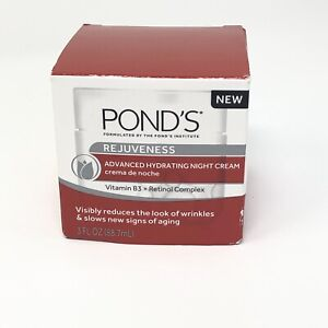 Ponds Rejuveness Advanced Hydrating Night Cream Vitamin B3 Anti Aging, 3 fl oz