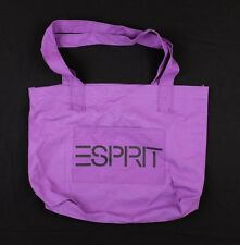 Vintage 1980s ESPRIT Large Canvas Tote Bag purple gym shoulder deadstock nos
