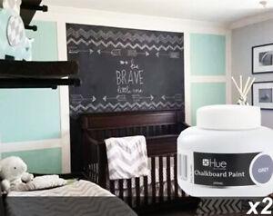 2 x 200ml Jars GREY Chalkboard / Blackboard Paint