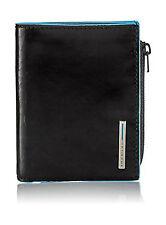 Portafoglio piccolo con porta monete e porta carte di credito   Piquadro Blue Sq