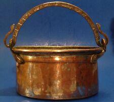 Antique Copper & Sterling cauldron Hammered Boiler Pot Forged Copper Planter