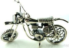 Miniature Sterling Silver Motorcycle Motor Bike #269
