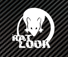 Aufkleber Rat look Ratte Oldschool Auto Sticker Tuning JDM Decal Oldtimer opel