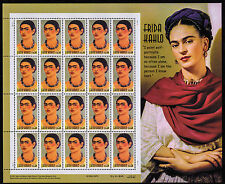 UNITED STATES, SCOTT # 3509, MINT NEVER HINGED FULL SHEET OF FRIDA KAHLO