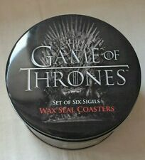 Game of Throne set of 6 Sigil Wax Seal Coasters in can - HBO - ThinkGeek - GOT