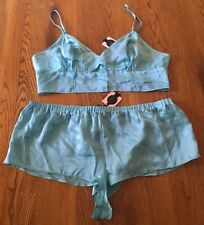 Victoria's Secret Designer Collection 100% Silk Pajama Set Size L NWT! $106