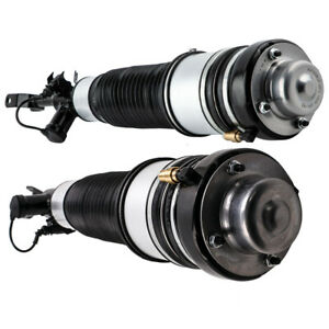 Pair Front LH RH Air Suspension Strut For Audi A6 S6 C6 4F0616040AA 4F0616039AA