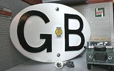 Vw Bay clásico Samba Auto Camper Vintage Aa Gb Gran Bretaña Touring badge/sign