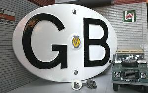 VW Bay Samba Classic Car Camper Vintage AA GB Great Britain Touring Badge/Sign