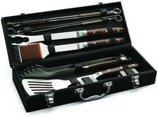 Cuisinart Grilling Set Grill Bbq Tool Utensil Cooking Stainless Steel Wood Case