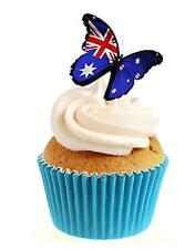 Novelty Australia Butterfly 12 Edible Stand Up wafer paper cake toppers birthday