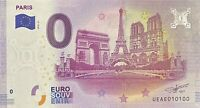 BILLET 0  EURO   PARIS TROIS MONUMENTS  FRANCE  2018  NUMERO DIVERS EPUISE