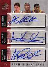 SP Signature Five Star Auto MAGIC JOHNSON JOHN STOCKTON JULIUS ERVING THOMAS 10