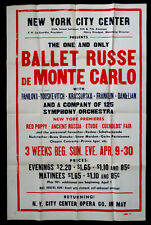 1944 Vintage BALLET RUSSE DE MONTE CARLO New York Poster DANILOVA & KRASSOVSKA