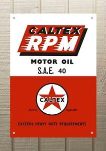 Caltex RPM Petrol Oil Man Cave Metal A4 Sign