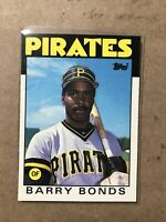 1986 Topps Traded Barry Bonds Pittsburgh Pirates #11T Rookie Card 🔥