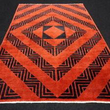 Orient Teppich Nepal 293 x 200 cm Modern Rot Schwarz Handgeknüpft Carpet Rug