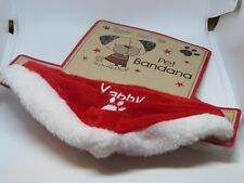 Red Christmas pet bandana collar cat bandana, dog bandana pet Christmas dress up