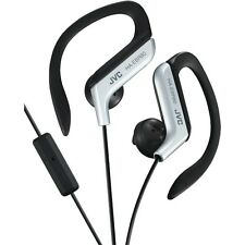 JVC HAEBR80S Sport-Clip In-Ear Headphone/Earphone with Microphone&Remote(Silver)