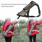 Arrow Shoulder Back Strap Archery Holder Hunting Pouch Bag Camo Quiver A3