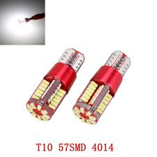 2x T10 501 W5W 4014 LED 57-SMD Canbus Error Free Wedge Light Bulb Lamp White New