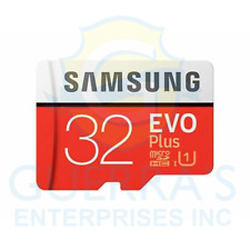 Genuine Samsung EVO Plus 32GB Micro SD SDHC UHS-I Class 10 Card With Adapter
