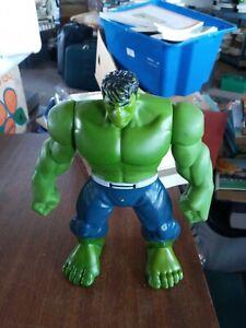 "Marvel Toys: Rubber Hands Smashing Hulk- Talking/Sounding Figure By Hasbro 9"""